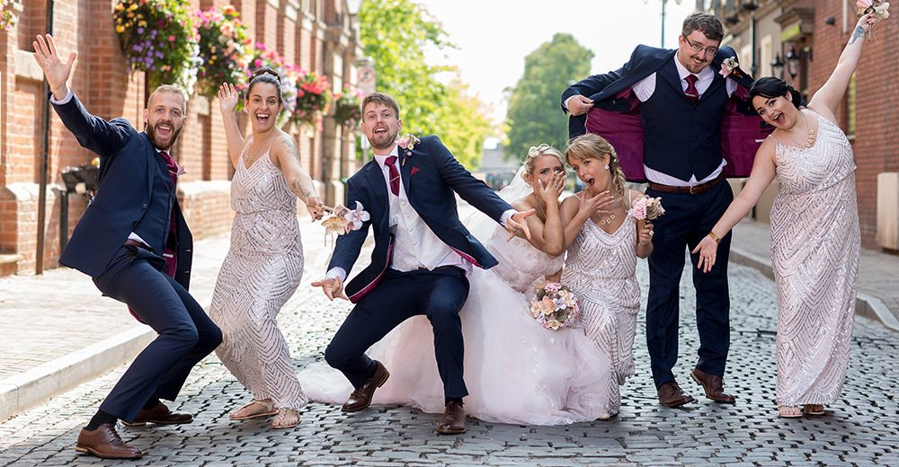 Bridal Party fun pose